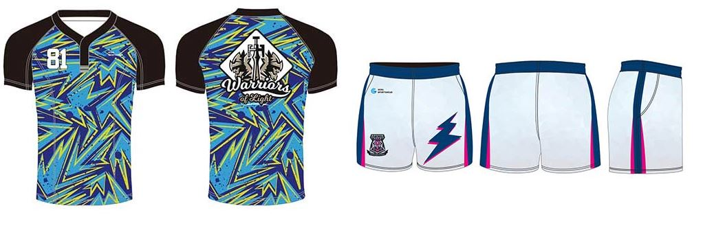 Sublimated rugby jersey design