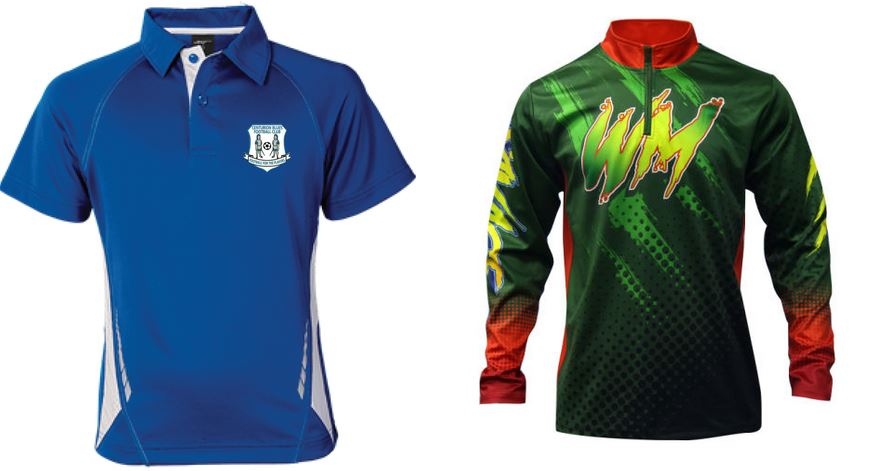 Sublimated shirt with button vs zipper