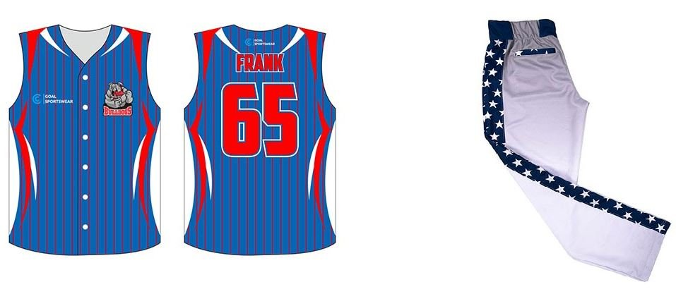 Sublimates softball uniform