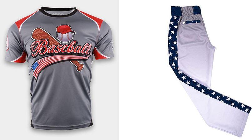 Sublimated baseball uniform