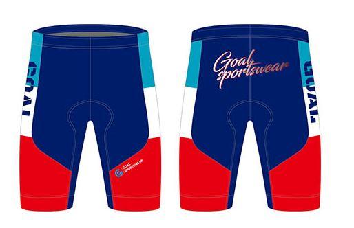 Sublimated cycling shorts