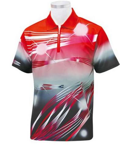 Sublimated polo shirt with zipper