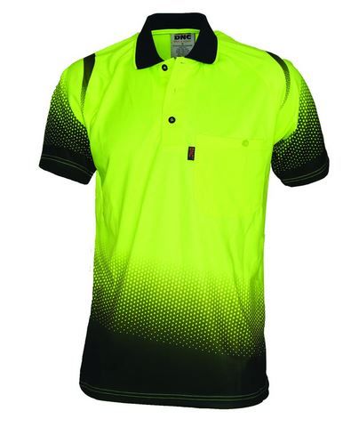 Sublimated polo shirt with buttons