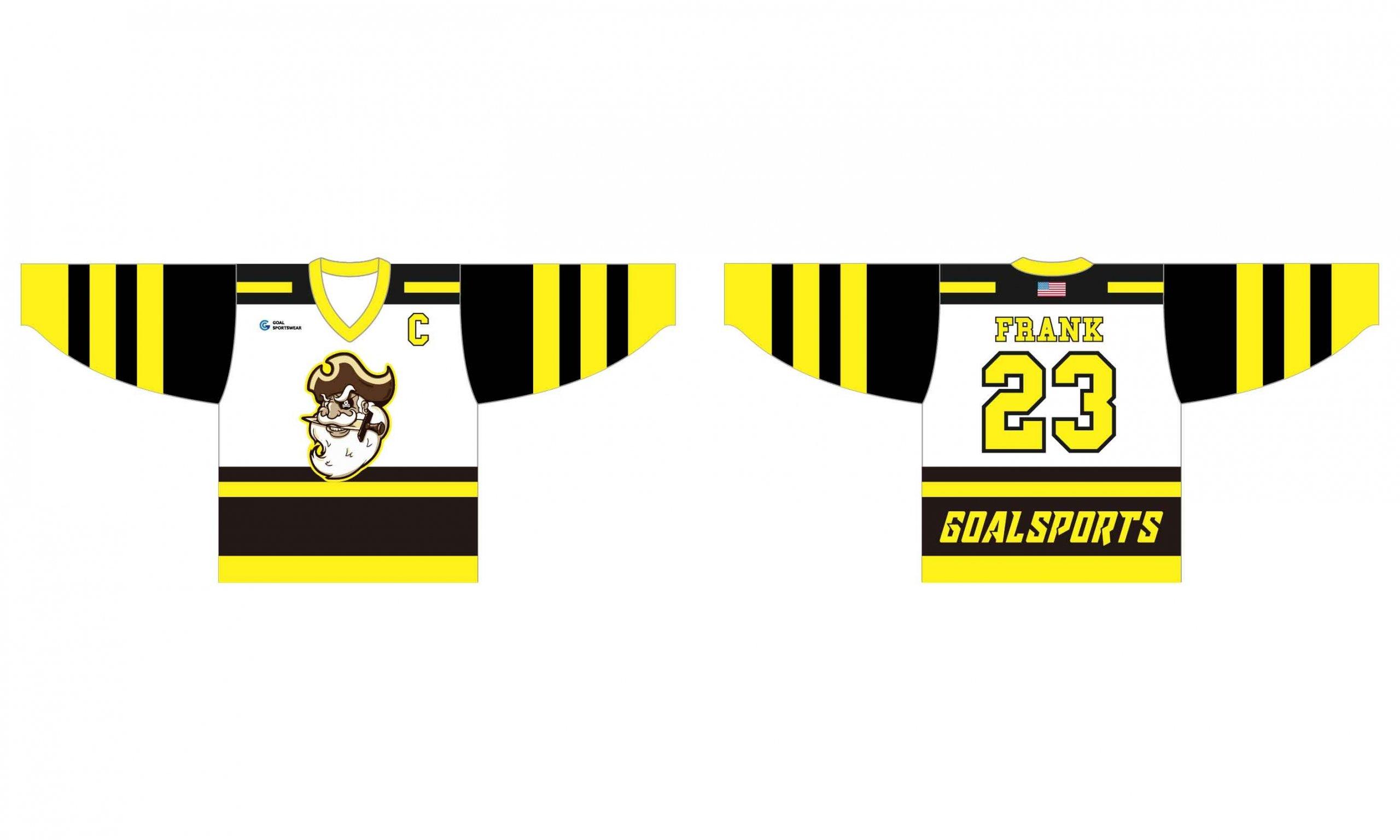 Full Sublimated custom made mens hockey team jerseys