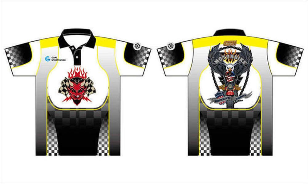 Full Sublimated custom made mens team button down racing shirts