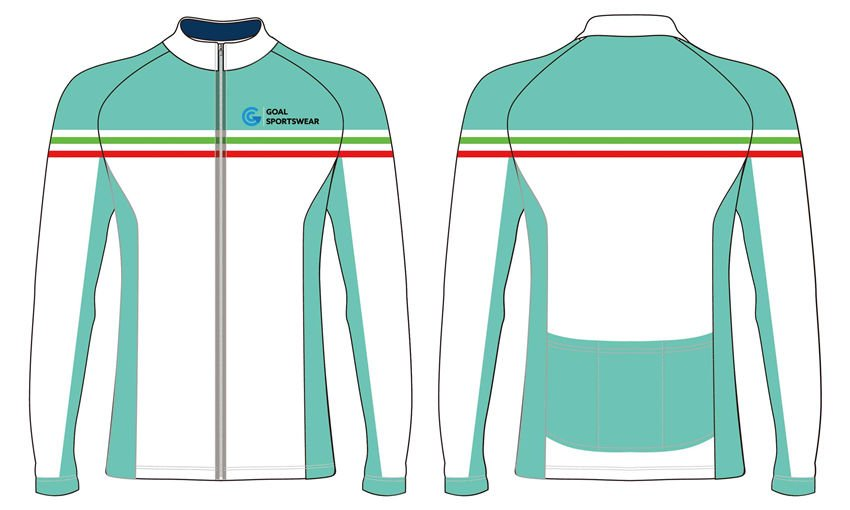 Full Sublimated custom made mens team long sleeve cycling jerseys