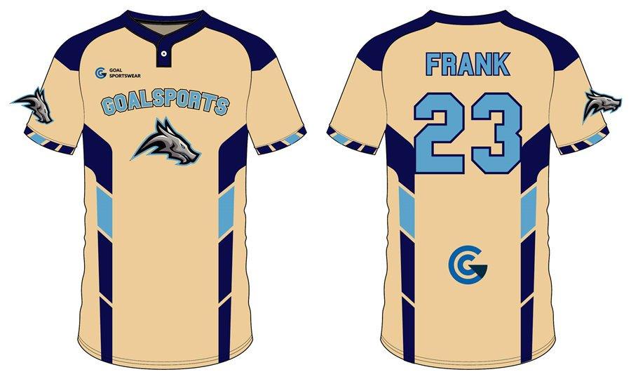Full Sublimated custom made short sleeve baseball team jerseys