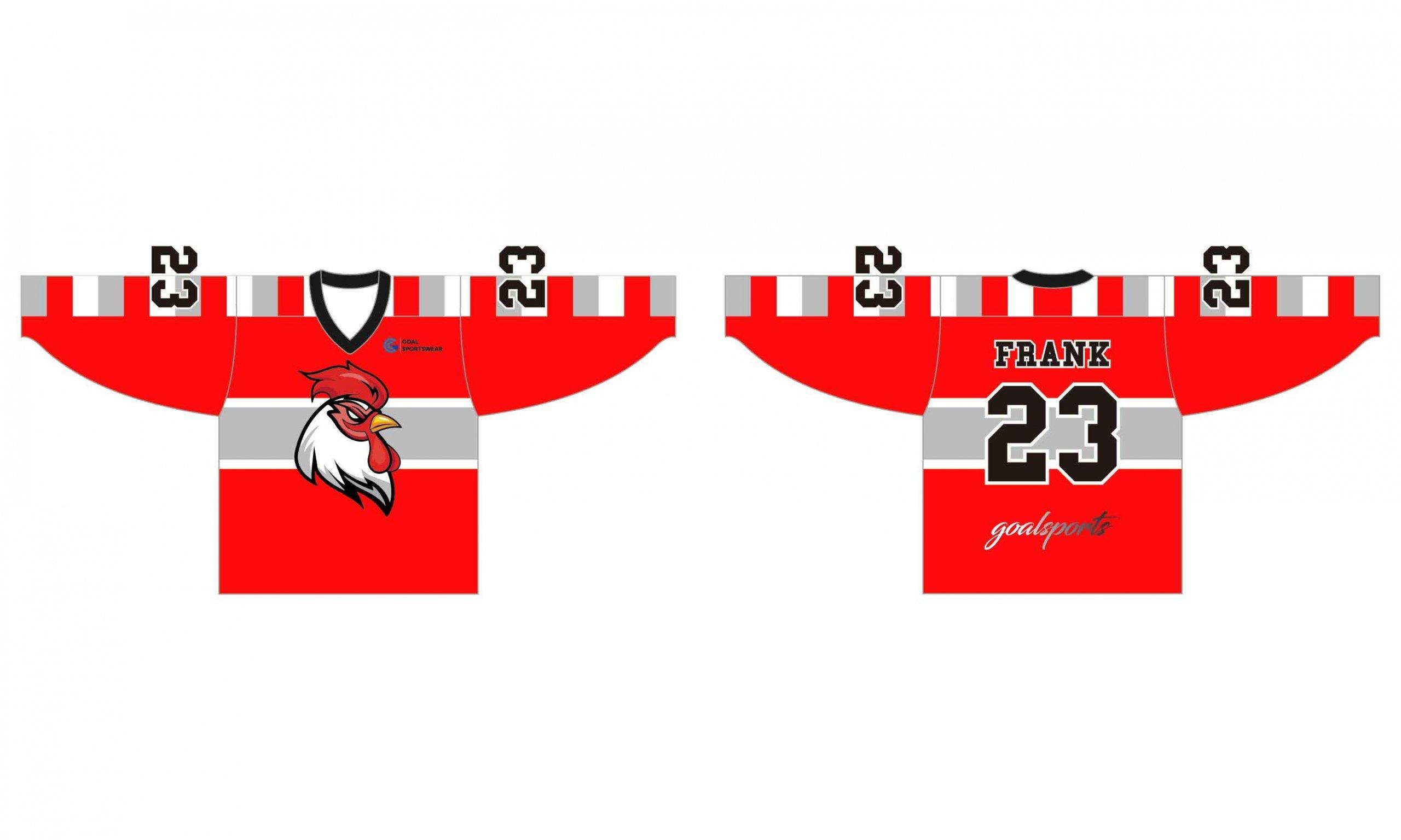 Full dye sublimation printing custom made team hockey shirts