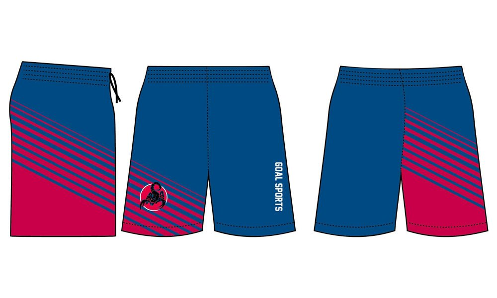 Full dye sublimation printing custom made team lacrosse shorts