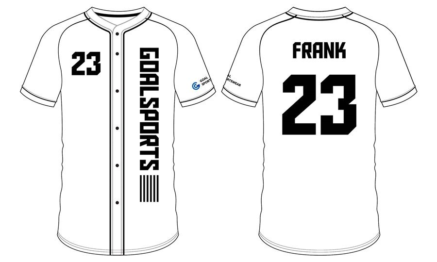 Full dye sublimation white blank custom design baseball jerseys