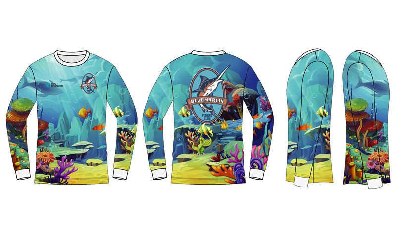 Full dye sublimation wholesale custom design fishing tees
