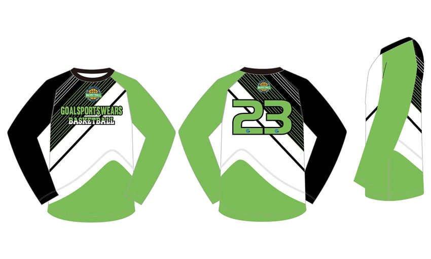 Full dye sublimation wholesale custom long sleeve goalie jerseys