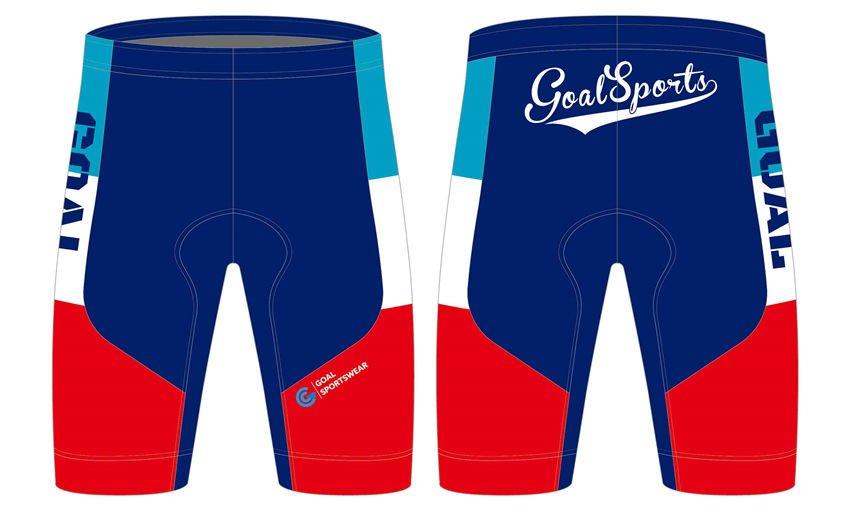 Full dye sublimation wholesale custom made cycling shorts