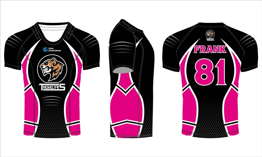 Full dye sublimation wholesale pro cut custom made rugby jerseys