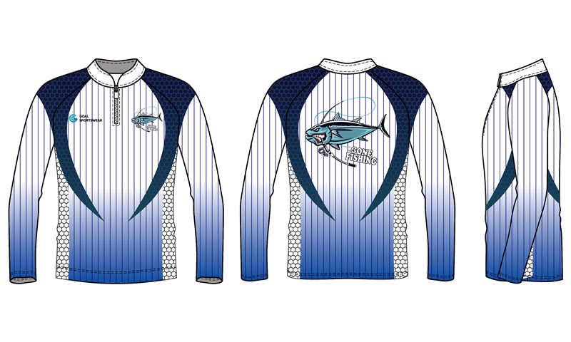 Full polyester breathable custom design quater zipper fishing jerseys