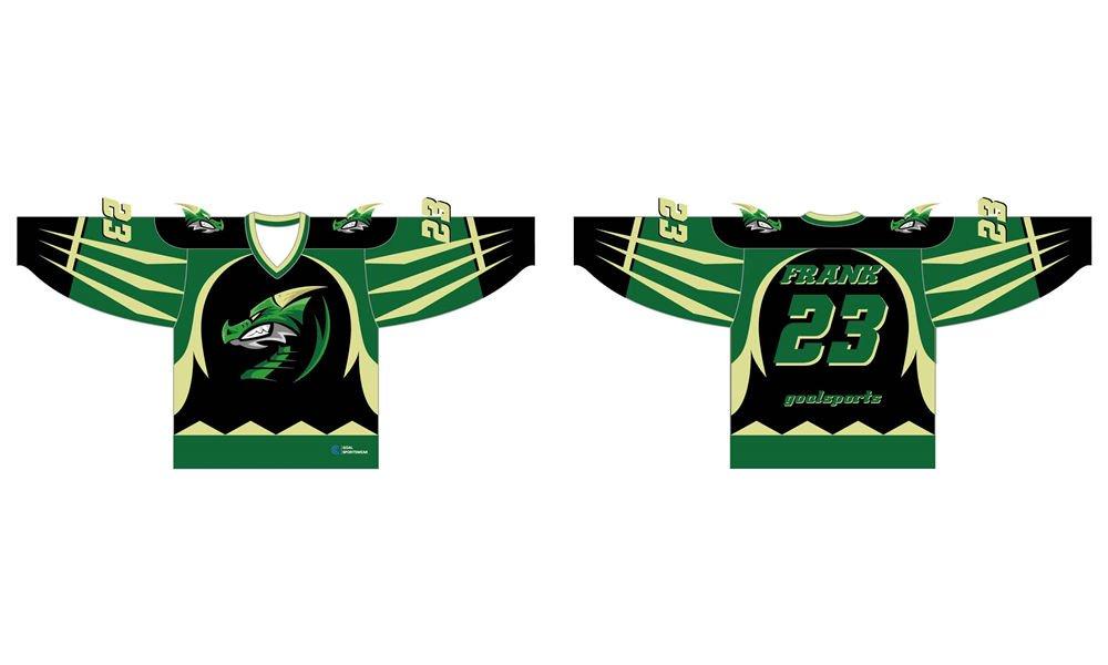 Full polyester breathable custom design reversible hockey jerseys