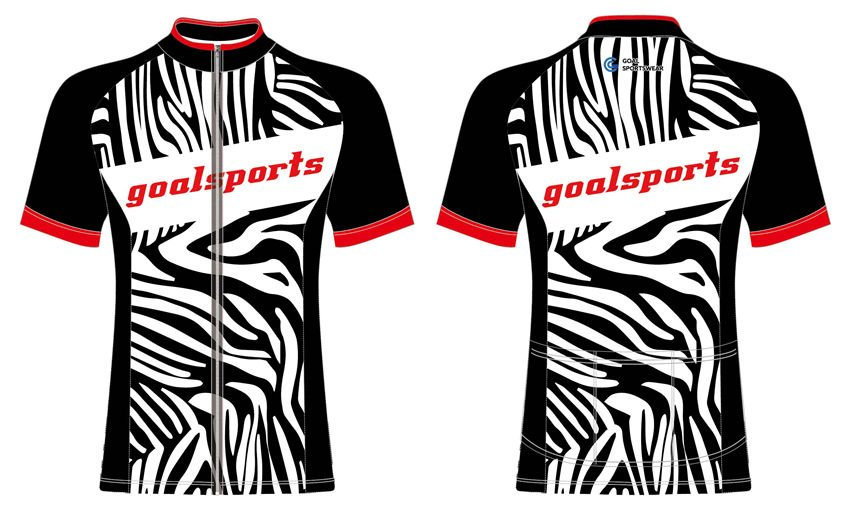 Full polyester mesh Custom made short sleeve team cycling jersey