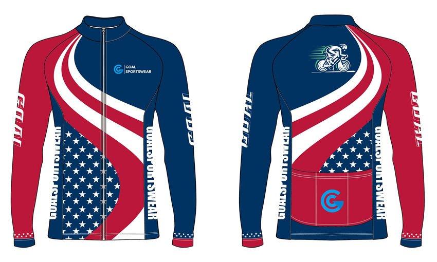 Full sublimation custom design long sleeve zipper up cycling jerseys