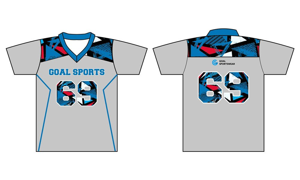 Full sublimation custom design short sleeve lacrosse jerseys