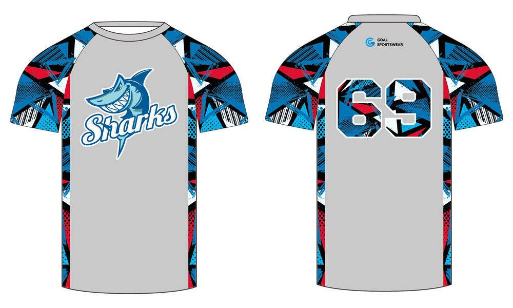 Full sublimation custom design short sleeve lacrosse shooters