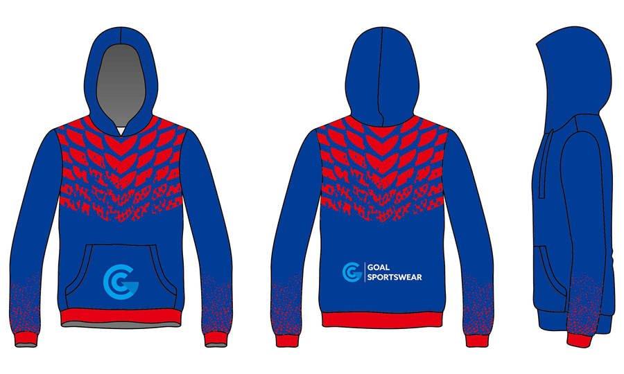 Full sublimation polyester custom design pullover hoodies