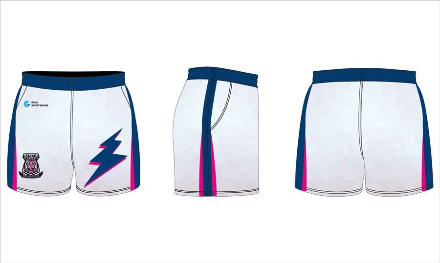 Full sublimation polyester custom design rugby shorts