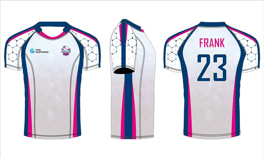Full sublimation polyester custom design short sleeve rugby jerseys