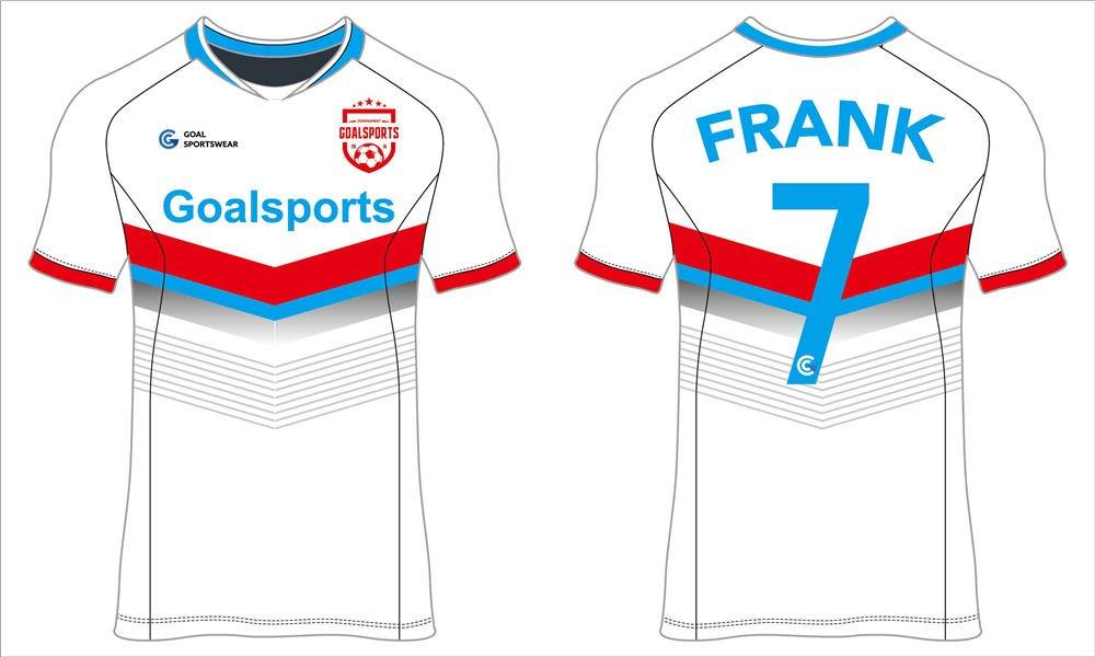 Full sublimation polyester custom design short sleeve soccer jerseys