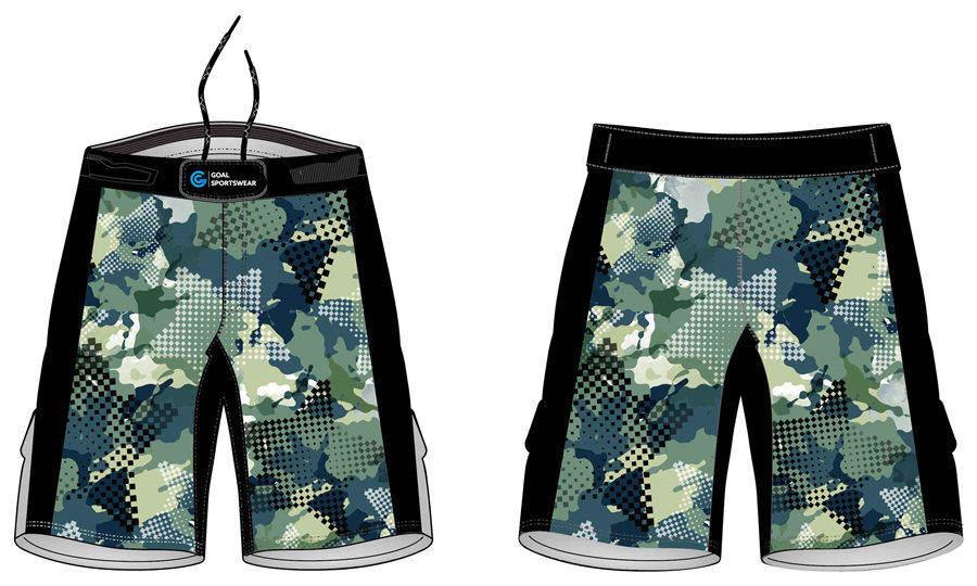 Full sublimation polyester spandex custom design MMA shorts
