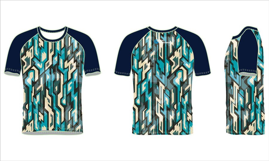 Full sublimation polyester spandex custom design short sleeve rash guard