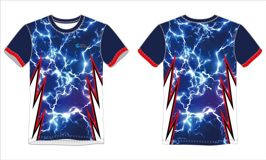 Full sublimation polyester spandex custom design short sleeve t shirts
