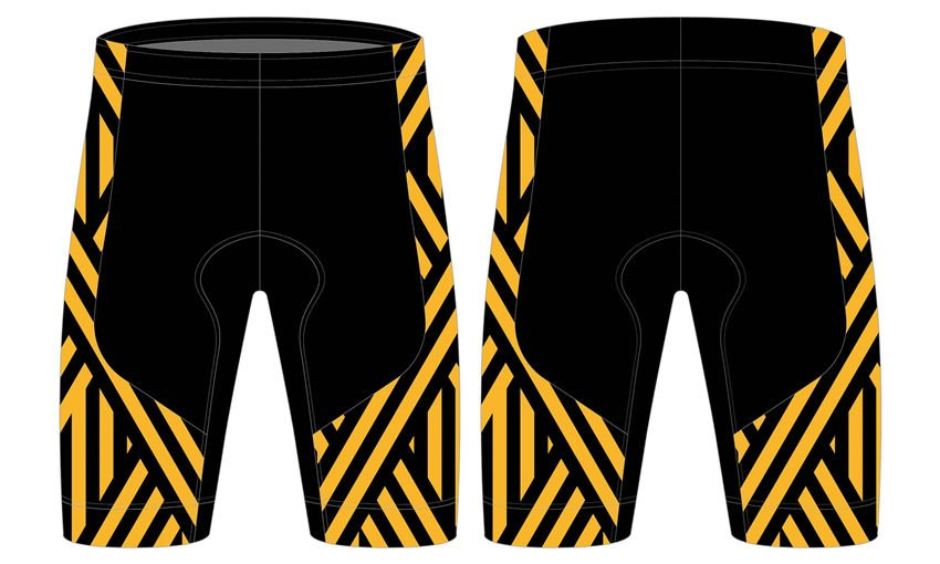 High quality sublimation custom design 100% polyester cycling shorts