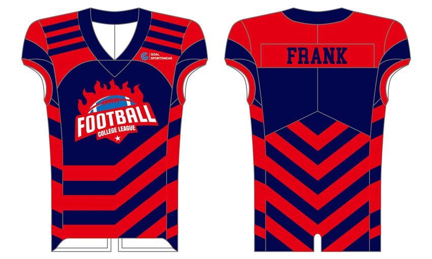 High quality sublimation custom design compression football jerseys