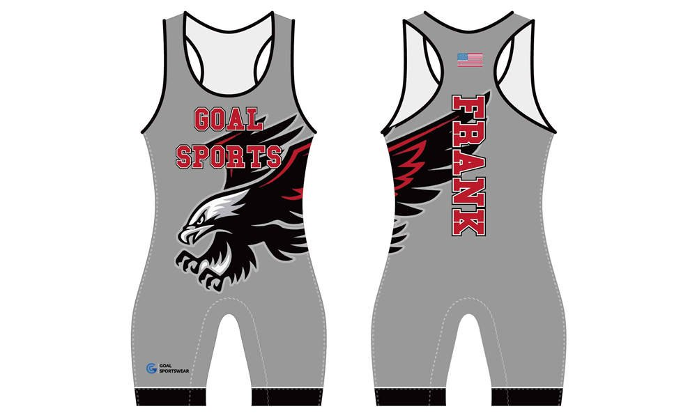 High quality sublimation custom design poly spandex wrestling singlets