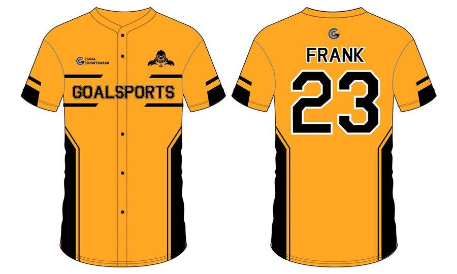 High school custom design full button sublimated baseball jerseys