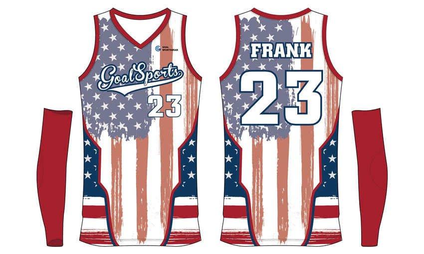 High school custom design sublimated reversible basketball jerseys