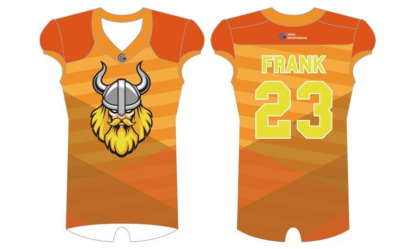 High school custom design sublimated reversible football jerseys