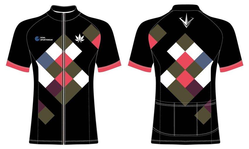 High school sublimation custom printed short sleeve cycling jerseys