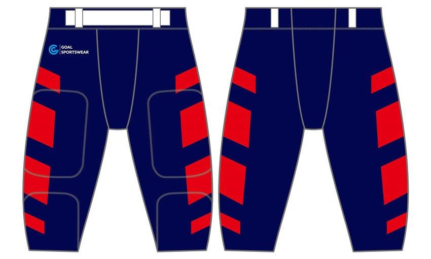 Polyester spandex sublimation custom design american football Pants