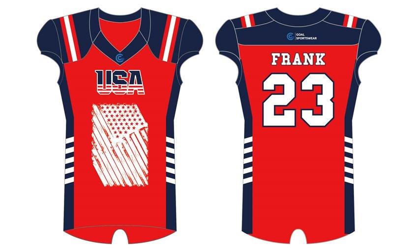Polyester spandex sublimation custom design american football jerseys