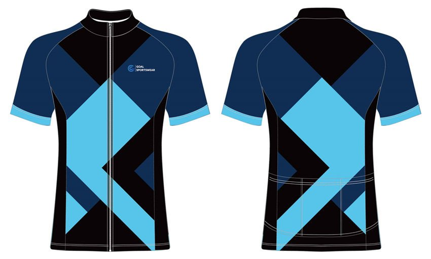 Pro polyester breathable sublimated custom team cycling jerseys