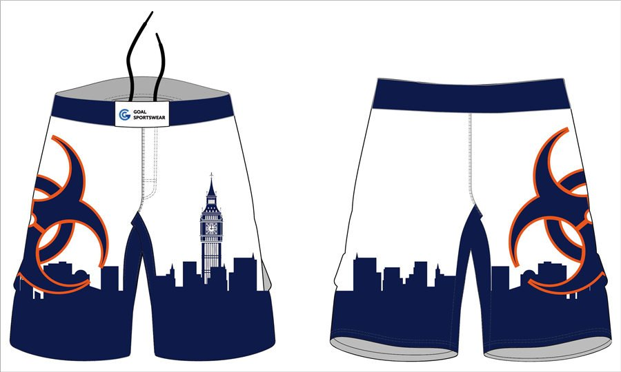 Pro polyester breathable sublimated custom team ladies mma shorts