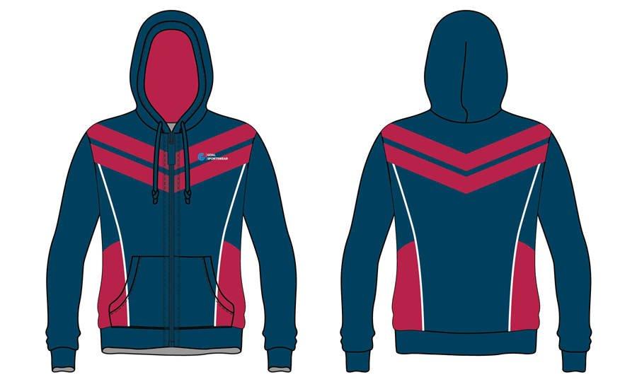 Pro quality Custom design sublimated printing full zipper hoodies