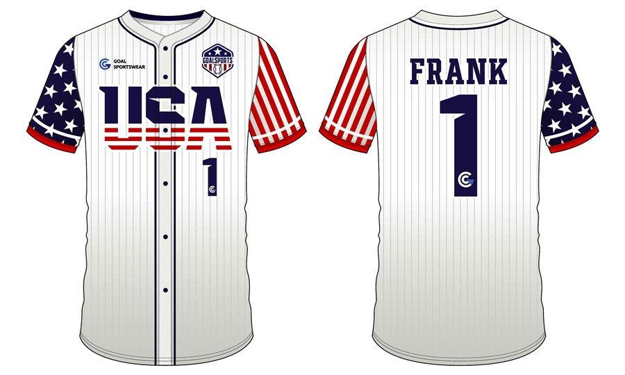 Pro quality sublimation printing custom design team baseball jerseys