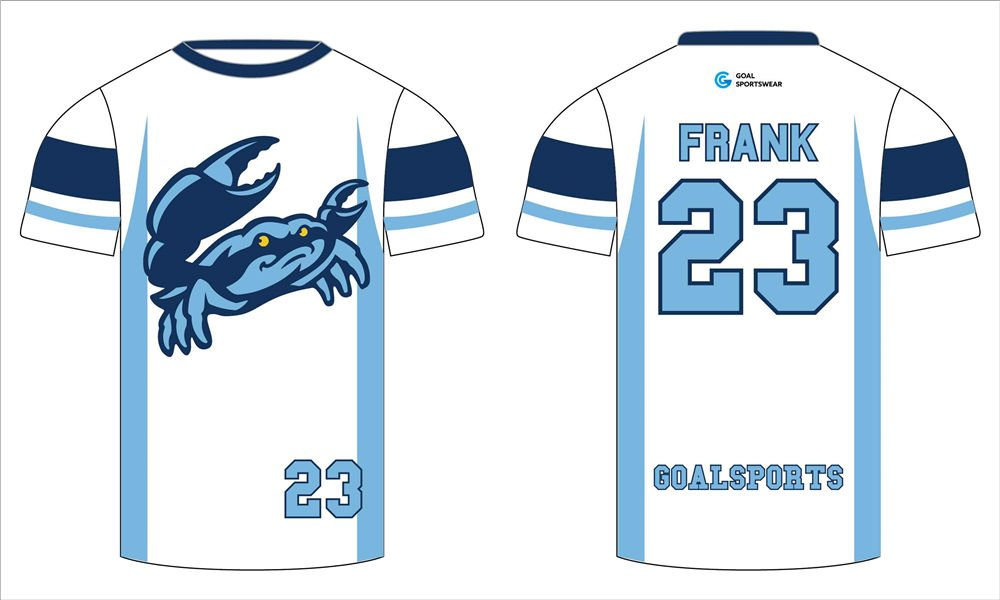 Pro quality sublimation printing custom design team lacrosse short sleeve shooters