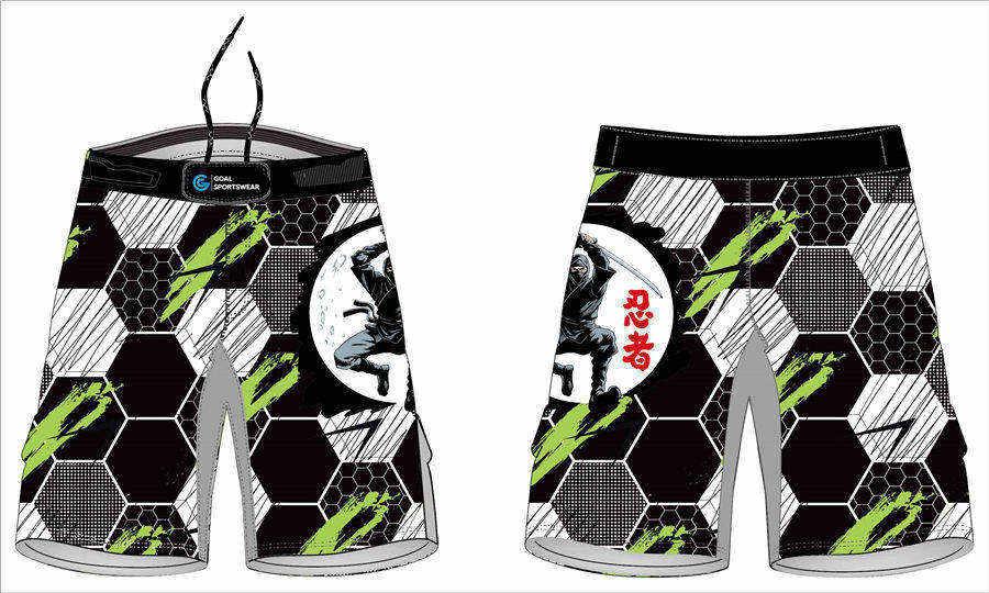 Quick dry sublimation printing custom youth team tatoo mma shorts