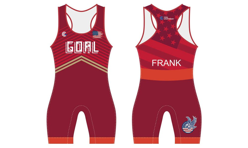 Stretchable polyester sublimation printing custom youth team wrestling singlets