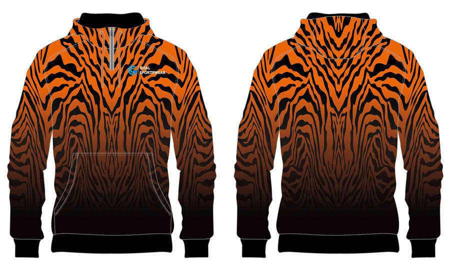 Sublimation high quality custom design youth 1_4 zipper hoodies