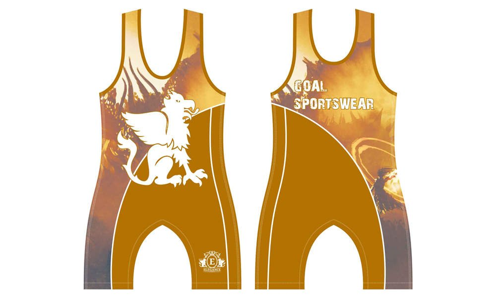 Sublimation high quality custom made youth wrestling singlets