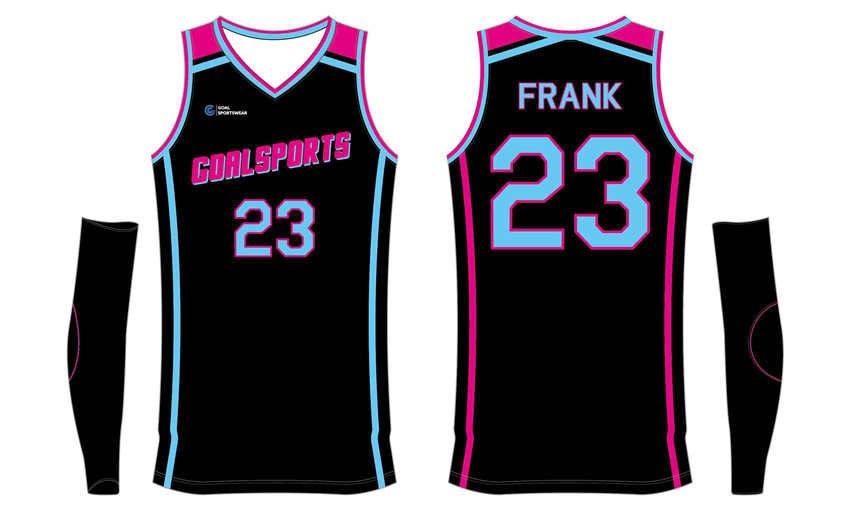 Sublimation high quality custom youth v neck basketball jerseys